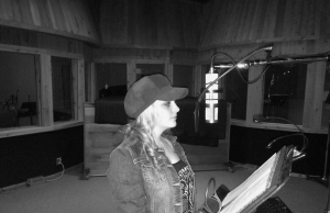 Recording at Curb Records in Nashville, TN.