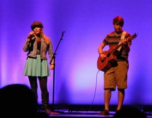 Perfoming at the Youth Artist Alliance with Jesse Black.