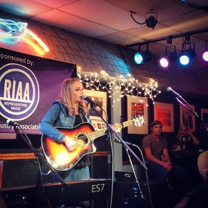 Playing at the Bluebird Cafe in Nashville, TN.