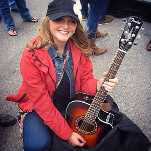 A picture my new friends from England took of me during my wait in line at the Bluebird Cafe.