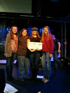 A few of my friends supporting me during the Texaco Country Showdown State Finals Competition.