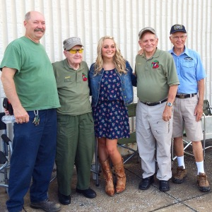 I was so blessed to be able to meet these veterans. They are some amazing men.